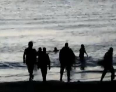 Imagen de la Guardia Civil antidisturbios en Ceuta.