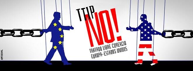 Imagen del cartel contrario al Ttipia.