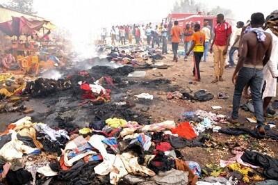 Imagen terrible tras el atentado en un concurrido mercado. (Foto-AFP)