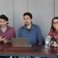 Jaime Paulino, Jordi Peris e Isabel Prats, portvoz de Guanyem
