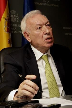 José Manuel García Margallo informó que la pareja ilocalizada apareció, sana y salva, y que procedían de la localidad de Sueca. (Foto-VLCNoticias-Duarte)