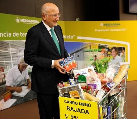 Juan Roig durante su rueda de prensa presentando el balance anual de Mercadona.