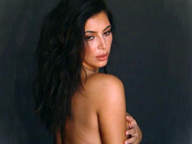 Kim Kardashian promociona desnuda su reality show