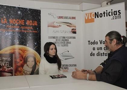 La joven Marisol durante un momento de la entrevista.