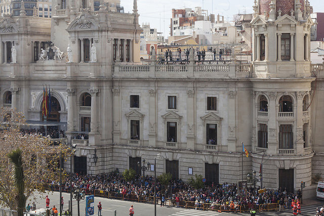 La mascletá del día 3 de marzo vista por Manolo Guallart
