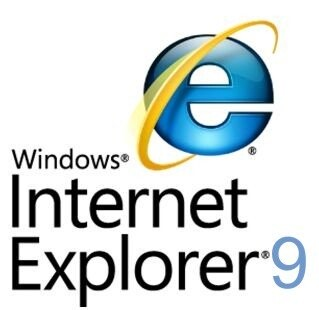 Logo de Internet Explorer 9.