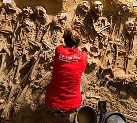Los esqueletos encontrados pertenecen al siglo XVIII.