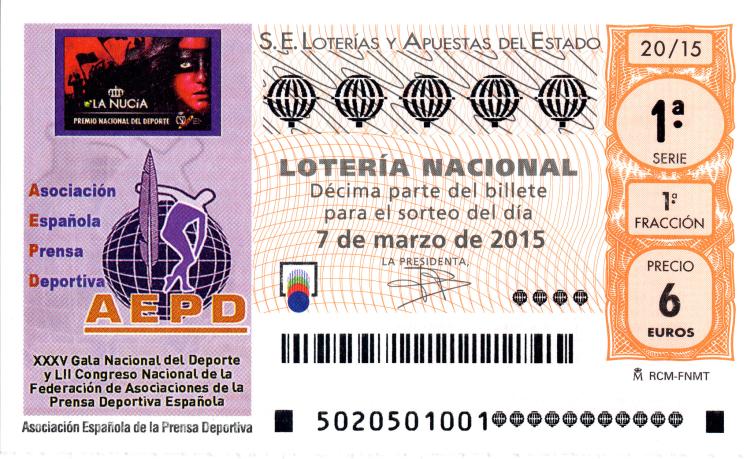 Lotería Nacional, sorteo de lotería nacional7 de marzo de 2015
