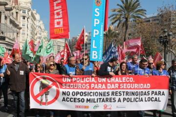 Manifestación policías