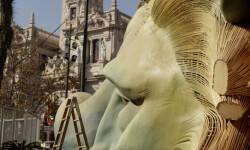 Manuel García,  ha presentado a los medios  'La Fuerza', la Falla Municipal que coronará la Plaza del Ayuntamiento en Fallas (5)
