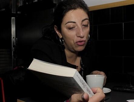 María Frisa durante un momento de la entrevista.