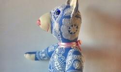 Mascota de la exposicón cuyo nombre es Teddy Vilán.