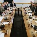 Mesa de negacionaes bilaterales entre EE.UU y Cuba. (Foto-AFP)