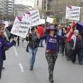 Manifestacion del dia de la Mujer Trabajadora