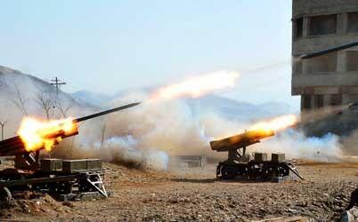 Misiles de Corea del Norte en unos ensayos militares. (Foto-AFP).
