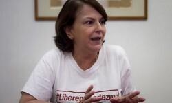 Mitzy Capriles se encuentra de visita en España para buscar apoyos en la liberación de su marido.