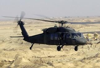 Modelo de helicóptero Blackhawk que sufrió el accidente.