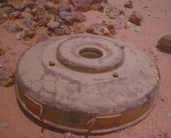 Modelos de minas utilizados en la guerra de Ucrania sin detonar.