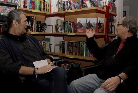 Moret durante un momento de la entrevista.