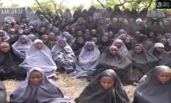 Mujeres secuestradas, en una imagen de archvio, por el grupo yihadista de Boko Haram en Nigeria. (Foto-AFP)