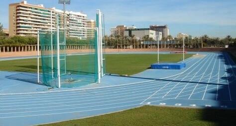 Instalaciones de Atletismo del Tramo III de los Jardines del Turia