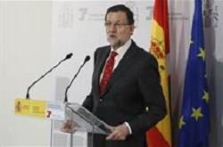 Rajoy en sus declaraciones en Vitoria.