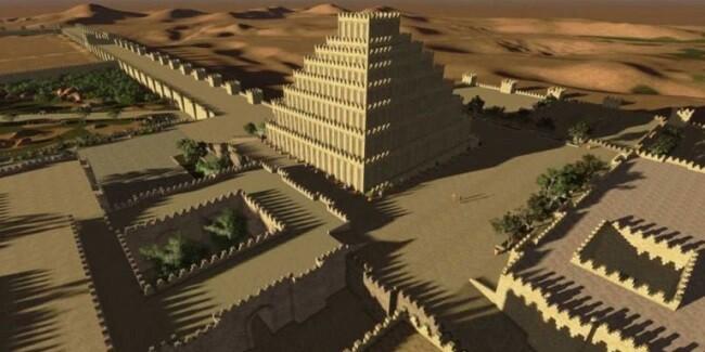 Recreación virtual de la antigüa ciudad de Dur Sharrukin.