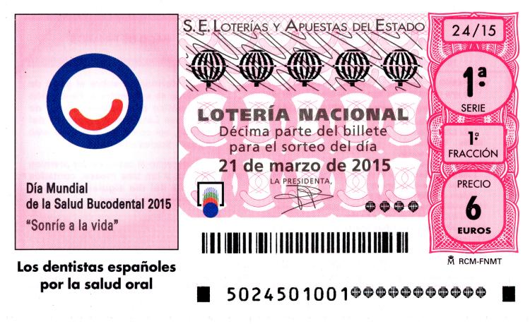 Sorteo de la lotería nacional del 21 de marzo de 2015