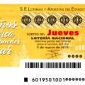 Sorteo del jueves de Lotería Nacional 5 de marzo de 2015