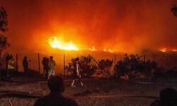 Un gigantesco incendio forestal asola la ciudad de Valparaiso en Chile. (Foto-AFP)