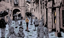 Una de las viñetas del cómic 'Abastos'