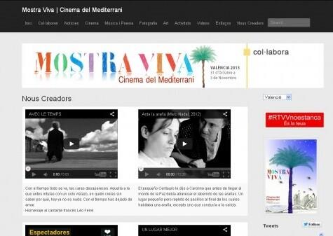 Una imagen de la web de Mostra Viva.