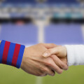 handshake of  football players
