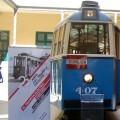Uno de los trenes, de los años 60', que estuvo expuesto en la muestra.