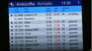 accidente Barcelona Düsseldorf. Llegadas