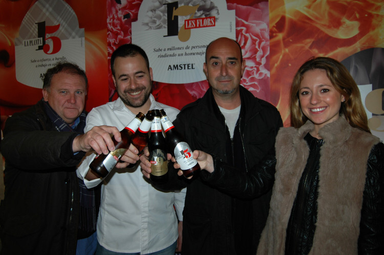 (De izquierda a derecha) El crítico gastronómico Pedro García Mocholí, el chef Nacho Romero, el periodista Ramón Palomar y la FMV 2014, Carmen Sancho.