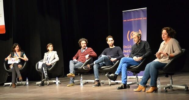 (De izq. a der.) Simona Levi, Marilin Gonzalo, Dario Adanti, Pepe Borrás (organizador del CTF), Gumersindo Lafuente y Virgina Pérez de Alonso.