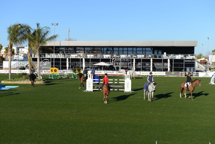 during various competition at CSI Mediterranean Equestrian Tour I at Oliva Nova Equestrian Center, Oliva - Spain
