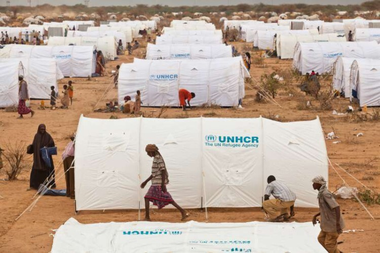 Campo de refugiados de ACNUR en Kenia