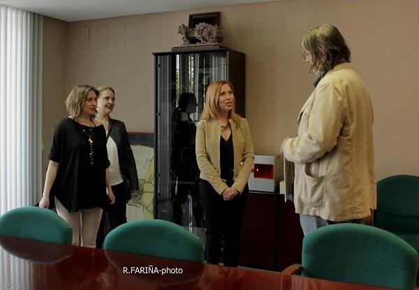 Aurora Luna, Carmen Payá, Carmen Jávega y Jimmy Entraigües tras la firma del Acta.