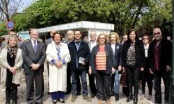 Autoridades durante la inauguración de la Feria del Libro.
