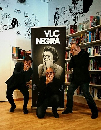 Bernardo Carrión, Jordi Llobregat y Santiago Álvarez conforman el equipo organizador de VLC NEGRA.