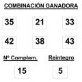 COMBINACIÓN GANADORA DEL SORTEO DE BONOLOTO DE FECHA 20 04 2015