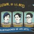 Cartel de los 'Ilustradores de Les Arts'. - Portada