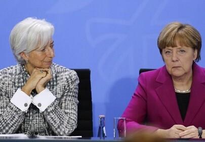 Christine Lagarde y la canciller alemana Angela Merkel en una reciente reunión.