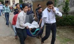 Continúan las labores de rescate en la zona afectada. (Foto-AFP)