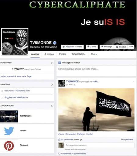 Cuenta de Facebook abierta por los yihadista.