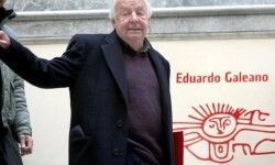 Eduardo Galeano durante la presentación de uno de sus libros. (Foto-Agencias)