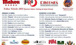 Fallas Toledo 2015 Panel Patrocinio y programa