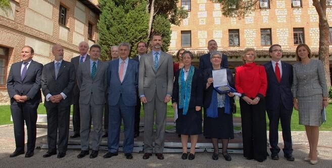 Felipe VI en la entrega, este lunes, del Premio de Derechos Humanos Rey de España .